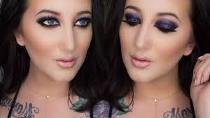 arabic makeup tutorial purple glitter