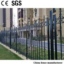 China Modern Design Decorative And Protective Powder Coated Cast Iron Rails Fence For Garden China Fencing Cast Iron Fence