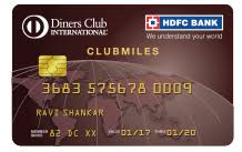 hdfc bank diners club international