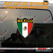 Flag Of Mexico Mexican Decal Sticker Car Vinyl Reflective Glossy Shield C Pick Size High Quality Car Stickers Aliexpress