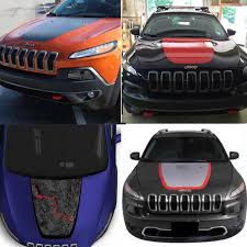 Colored Large Front Head Hood Decal Vinyl Graphics Sticker Accessories For Jeep Cherokee 2014 2015 2016 2017 2018 Car Stickers Aliexpress