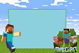 Fiesta De Minecraft Cumpleanos Infantil Invitaciones De