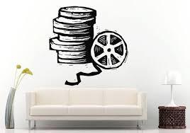 Cinema Movie Roll Of Film Wall Decal Vinyl Sticker Mural Room Decor L580 Vinyl Wall Decals Room Decor Walls Room