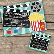 Movie Theme Party Printable Diy Movie Night Invitation By