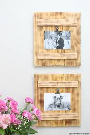 diy picture frames with a burned wood