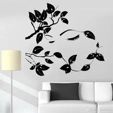 Vinyl Wall Decal For Teenage Room Beautiful Tree Branches Girl Eyes Eyelash Woman Wall Stickers For Living Room Library Vinyl Wall Stickers Quotes Wall Accents Decals From Joystickers 15 37 Dhgate Com