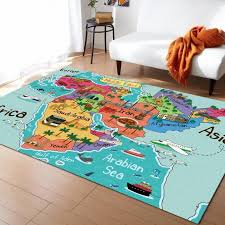 Arabic Map Cartoon Colorful Landmark Carpets For Living Room Bedroom Area Rug Kids Room Play Mat 3d Printed Home Large Carpet Cost Of C07o Carpet Shaw Rug Dealer From Cnwalmart 450 47 Dhgate Com