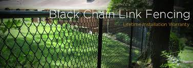 Residential Black Vinyl Coated Chain Link Fence Fence Workshop