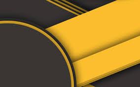 تحميل خلفيات تصميم المواد الأصفر والأسود الدوائر الأشكال
