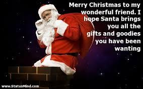 merry christmas to my wonderful friend i hope com