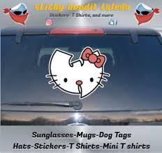 Hello Kitty Wu Tang 6 Inch Window Vinyl Decal Sticker Ebay
