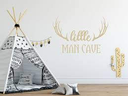 Harriet Bee Little Man Cave Quote Kids Room Wall Decal Wayfair