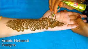 mehndi design easy front hand full