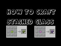 minecraft how to make stained glass in