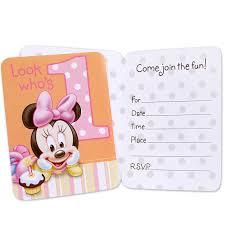 Disney Minnie 1 De Invitaciones De Cumpleanos Simaro Co