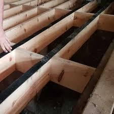 acoustic joist strip for wooden floors
