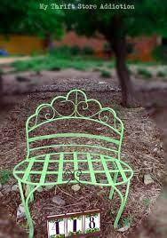 garden bench refresh with chalk paint