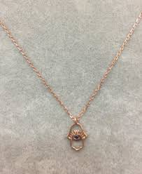 whole necklace rose gold plated pendant