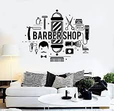 Vinyl Wall Decal Barbershop Hair Salon Stylist Barber Stickers Vs4296 Amazon Com
