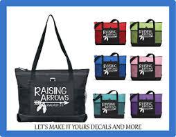 Raising Arrows Religious Bible Verse Custom Made Tote Bag Purse Zips Ebay