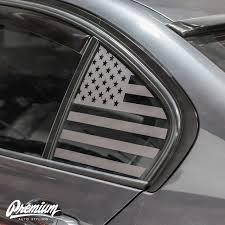 American Flag Rear Quarter Window Decal Set 2015 Bmw F30 Premium Auto Styling