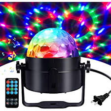 Amazon Com Disco Ball Disco Lights Coidea Party Lights Sound Activated Storbe Light With Remote Control Dj Lighting Led 3w Rgb Light Bal Dance Lightshow For Home Room Parties Kids Birthday Wedding Show Club Pub