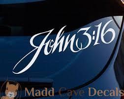Bible Decal Car Home Bumper Window John 3 16 Blue John 3 16 Jesus Believe