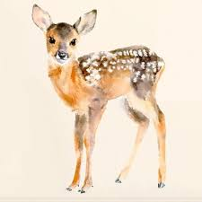 Fawn Wall Sticker Sweet Fawn Wall Sticker Decorative Wall Sticker Kids Rooms Imagine Childhood