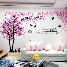 3d Wall Sticker Love Tree With Bird Rabbit Decals For Wall Living Room Decoration Acrylic Wall Stickers Tv Background Wallpaper T200111 Cloud Wall Decals Cloud Wall Stickers From Xue009 10 46 Dhgate Com