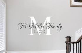 Personalized Cricut Vinyl Wall Design Name Initial Vinyl Wall Decals Family Family Wall Decals Family Wall