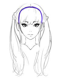 draw anime hair for beginners