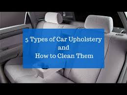 car upholstery and how to clean them