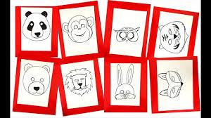 Hướng dẫn cách học tập vẽ mặt nạ các con vật