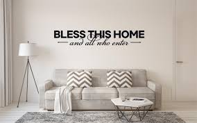 Bless This Home And All Who Enter Vinyl Decal Wall Stickers Letters Words