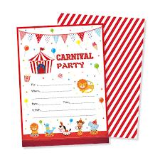 Tarjetas De Invitacion De Fiesta De Carnaval Dibujos Animados
