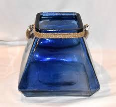 square cobalt blue color glass