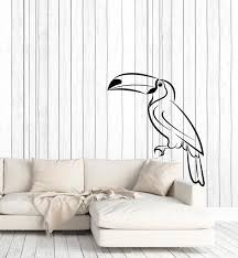 Vinyl Wall Decal Cartoon Pelican Animal Bird Kids Room Stickers Mural Wallstickers4you