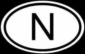Norway N Sticker Car Country Code Vinyl Decal Euro Oval Ebay
