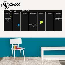 Large Week Planner Chalkboard Blackboard Vinyl Wall Decal Sticker Office Calendar Stickers 57x160cm Wall Decals Stickers Decal Stickercalendar Stickers Aliexpress