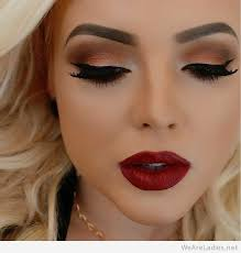 awesome makeup and red lips