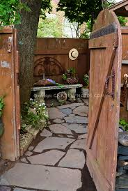 Rustic Wooden Fence And Gate Plant Flower Stock Photography Gardenphotos Com
