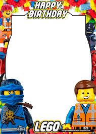 Free Printable Lego Birthday Invitation Templates Con Imagenes