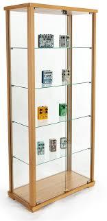 tall glass display cabinet lockable