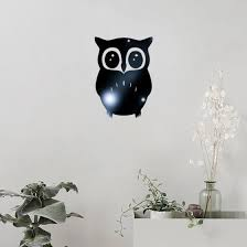Shop 3d Owl Mirror Vinyl Removable Wall Sticker Decal Home Decor Art Online From Best Wall Stickers Murals On Jd Com Global Site Joybuy Com