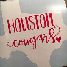 University Of Houston Cougars Sticker Vinyl Decal Uh University Texas Sticker Yeti Stic University Of Houston Houston Cougars Texas Stickers