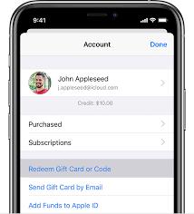 app itunes gift card
