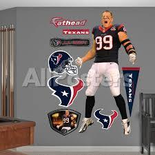 Nfl Houston Texans J J Watt Entrance Wall Decal Sticker Wall Decal Allposters Com