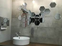 hexagon shape mirror wall decal wall