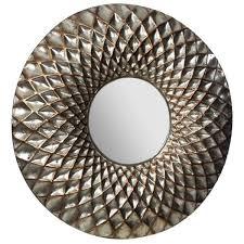 pinnacle hammered lattice round silver