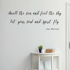 Winston Porter Smell The Sea And Feel The Sky Let Your Soul And Spirit Fly Vinyl Wall Decal Reviews Wayfair